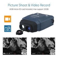 IR Night Vision Monocular Binoculars Digital Zoom Lens USB 4GB Card for Security