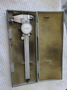 """Mitutoyo 505-626 Dial Caliper, 0-6"""" Range .001"""" Graduation Made in Japan"""
