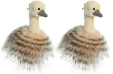 "Sadira Ostrich 5"" Clip On Plush Key Chain Stuffed Animal Gift 3480   Set 2 Pack"