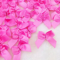 50Pcs Mini Satin Ribbon Flowers Bows Gift Craft Wedding Decoration ornaments