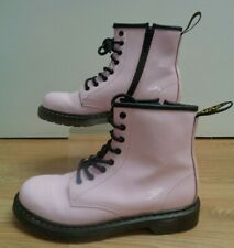 Dr Martens Air Wair Delaney Girls Ladies Pale Pink Boots Size UK 3 EU 36