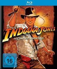 INDIANA JONES COMPLETE ADVENTURES (HARRISON FORD,...) 5 BLU-RAY NEU