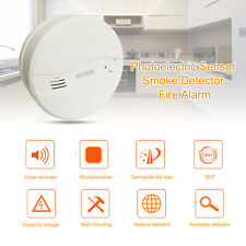 Home Fire Smoke Detector Fire Alarm w/ Photoelectric Sensor US-622PS Safty