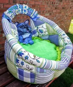 Dog Bed Large. Handmade unique .Special for French Bulldog
