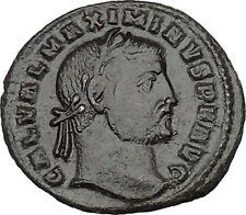 GALERIUS 309AD Large Ancient Roman Coin GENIUS Cult Wealth PROTECTION i40572