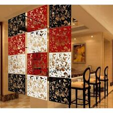 12pcs Hanging Screen Room Divider Wall Sticker Panel 3-color Flower