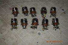 10 vintage western electric ks-13225L1 7 pin tube sockets tube tester tube amp