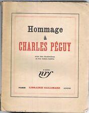 HOMMAGE à Charles PÉGUY par Abraham Benda Copeau Dorgelès Fumet Genevoix...1929