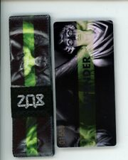 Medium ZOX Silver Strap DEFENDER Wristband with Card Reversible