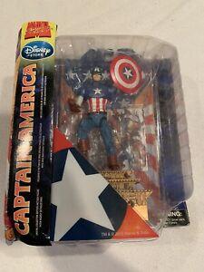 "Marvel Select Captain America Action Figure 9"" Disney Store Exclusive MISP"
