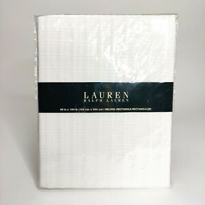 Lauren Ralph Lauren White Tablecloth Rectangle Oblong 60 x 104 in Plain Square