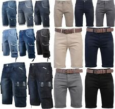 Hommes Crosshatch Short Chino Coton Demi Pantalon Cargo Combat Solde