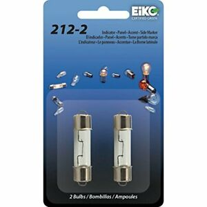 2 PACK EIKO 212-2 BULB HD 12V DOME LAMP COURTESY LIGHT STEP MAP INCANDESCENT