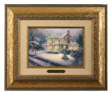 Thomas Kinkade Victorian Christmas III - Brushwork (Gold Frame)