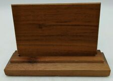 Nice Wood Memo Business Card Holder Office Desk Accessory Solid Euc 3x45 Slot