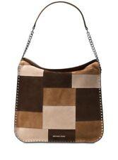 New Michael Kors Astor Large Hobo Convertible Patchwork Shoulder Bag Caramel