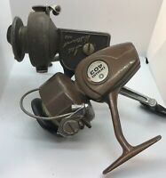 Vintage Ted Williams 400 Spinning Reel Made in Italy & Daiwa 403 Lot Vtg Antique