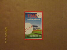 Rochester Red Wings Vintage Circa 1988 Team Logo Baseball Pocket Schedule