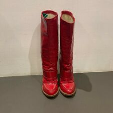 Dolce & Gabbana Patent Red Boots Size 39