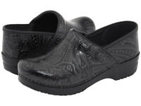 Womens Dansko Professional Black Tooled Leather Pro Clogs 906020202 Sizes 37-42