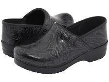 Womens Dansko Professional Black Tooled Leather Pro Clogs 906020202 Sizes 37-41