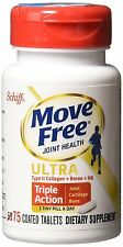 Schiff Move Free Ultra Type II Collagen Hyaluronic Acid Tablets 75 ct