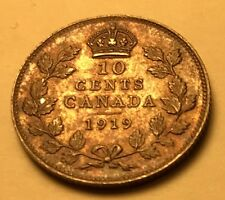 Canada - George V - 10 Cents - 1919 - KM-23 - Toned Br. Uncirculated Beauty!!!