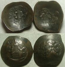 Lot Rare ancient BYZANTINE coins scyphate Mary Christ cross Isaac Angelus/Manuel