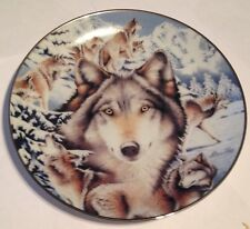 "Wolf, Bradford Exchange, Window To The Soul ""Snow Sentinels"" 1997"
