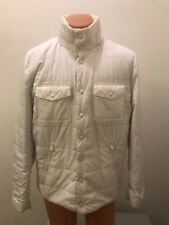 Bally Switzerland Men's Lightweight White Hoodie Puffer Jacket Size 42