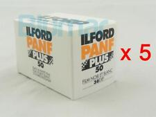 5x rolls ILFORD PANF 50 PLUS ,ISO 50 ,B&W NEGATIVE Film 35mm FRESH