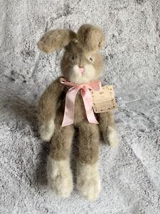 "Russ Rabbit Plush ""Hopscotch""  12"" The Heartcraft Collection Stuffed Animal Rare"
