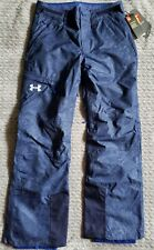Under Armour Sticks Stones Snow Ski Waterproof Pants Mens Small S Blue NWT