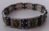 Womens Beaded Picture Charms Stretch Bracelet Christian Religious Bible Jesus