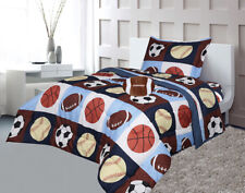 Navy Blue, Sky Blue,Brown, Orange Kids,Teens Sports Bed Comforter With sheet #02