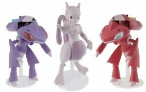Pokemon Plamo Collection 31+32 RED GENESECT & GENESECT & MEWTWO Model Kit BANDAI