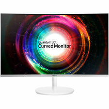 "Samsung C32H711 32"" QLED LCD Curved Gaming Monitor QHD 2560x1440 FreeSync VA"