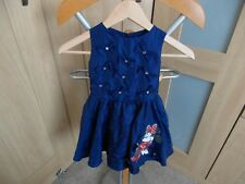 Girls Disney Minnie Mouse Party Dress Age 2-3 years Navy