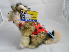 Kipmik Alaskan Siberian Husky Sled Dog w/ Harness Plush Stuffed Animal Nwt