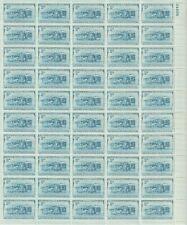 1952 3 cent B&O Railroad Full sheet of 50 Scott #1006, Mint NH