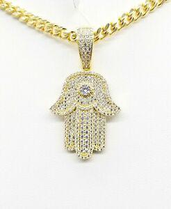 Fancy Icy Handmade Hamsa AAA Designer Pendant Vs Zircon Crystal Finest Quality