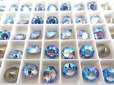 6 Light Sapphire Shimmer Swarovski Crystal Chaton Stone 1088 39ss 8mm