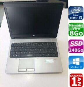 """PC portable HP Probook 650G1, 15"""", i3-4000M, SSD 240Go, 8Go, Windows 10 pro"""