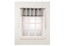 No. 918 Montego Tier VALANCE 56 X 14 Inch Curtain Panel , Nickel, 56x14