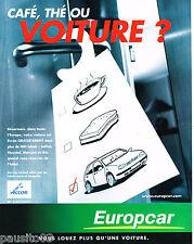 PUBLICITE ADVERTISING 065  2000  EUROPCAR  location de voiutres