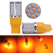 2pcs AMBRA T20 W21W 7440 35smd LAMPADINE LED LUCI DI INDICATORE DIREZIONE CANBUS