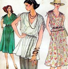 "EASY Vintage 70s DRESS Top SKIRT Sewing Pattern UNCUT Bust 36"" 92 cm Sz 12 RETRO"