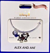 Disney Parks ALEX & ANI bracelet CHRISTMAS Mickey Minnie skating LIMITED RELEASE