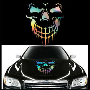 50x56CM Vnyl Skull Hood Decal Side Door Graphic Sticker Car Truck Accessories