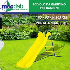 Scivolo Da Giardino Per Bimbo Struttura in Acciaio 185x95xH105 cm.